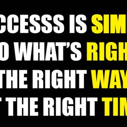 Success is simple