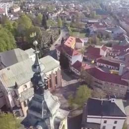 Letecký pohľad na Banskú Bystricu