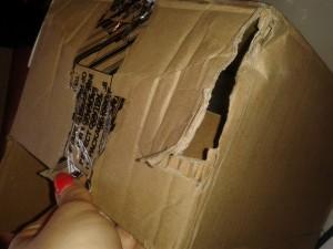 Narezaná krabica - ukradnuté GoPRO